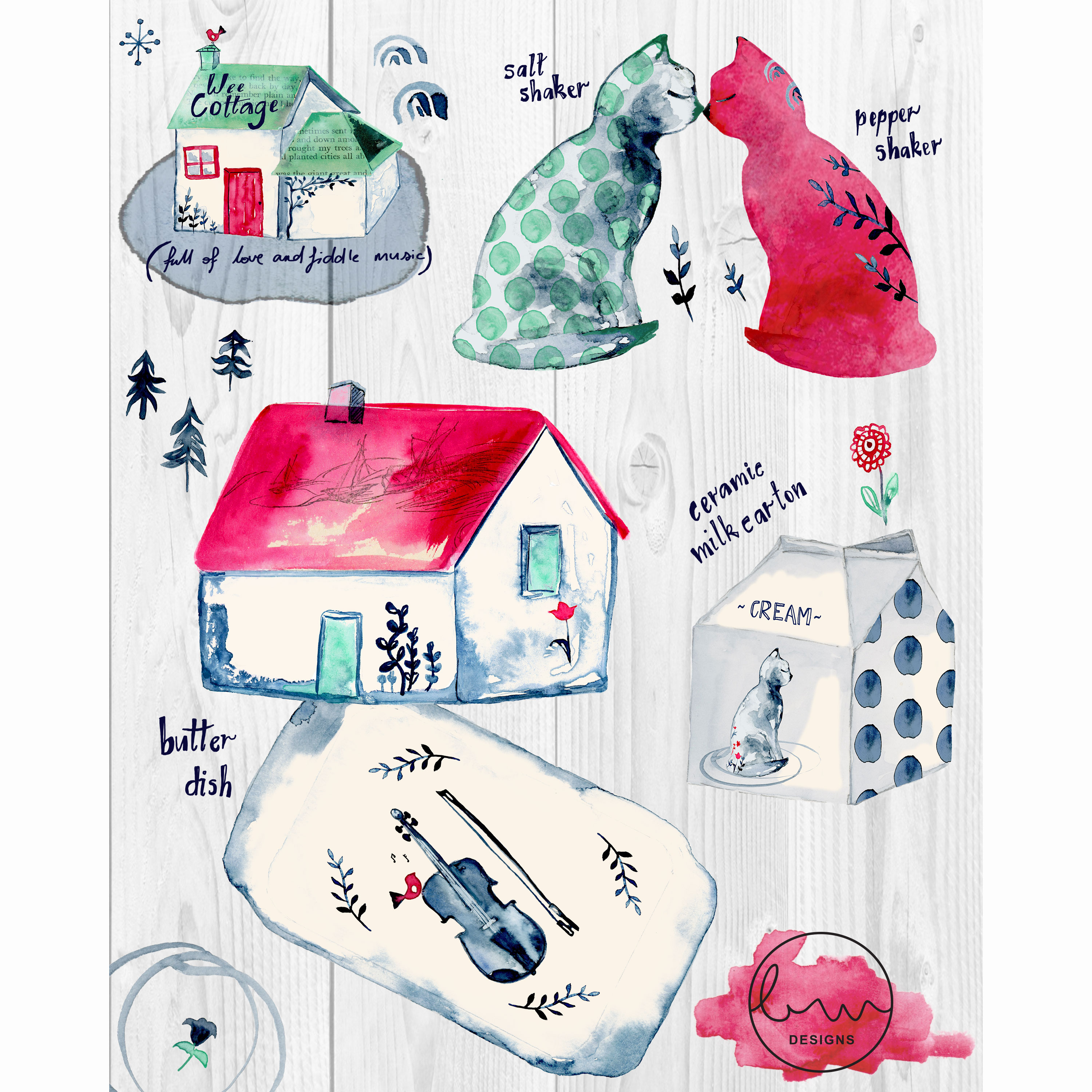 """""""Wee Cottage"""" Home Decor Collection"""